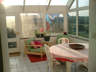 Conservatory in the sunlight