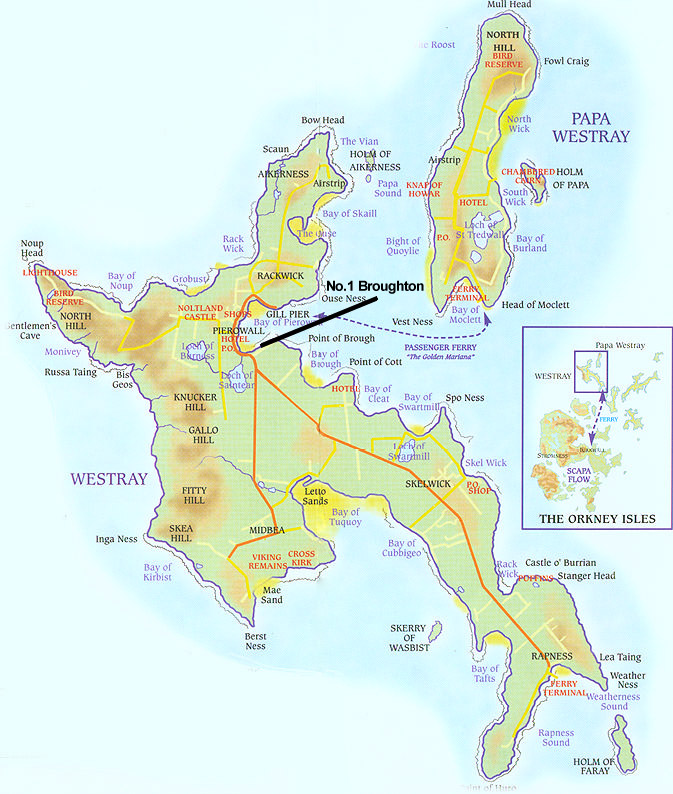 Map of Westray